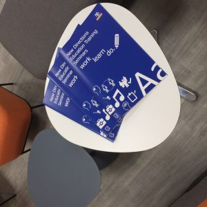 Image of training booklet on table