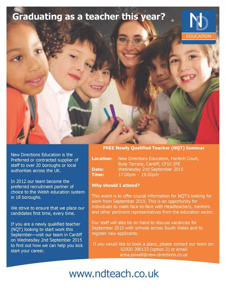 Cardiff <abbr title='Newly Qualified Teacher'>NQT</abbr> Flyer 2nd September_Page_1