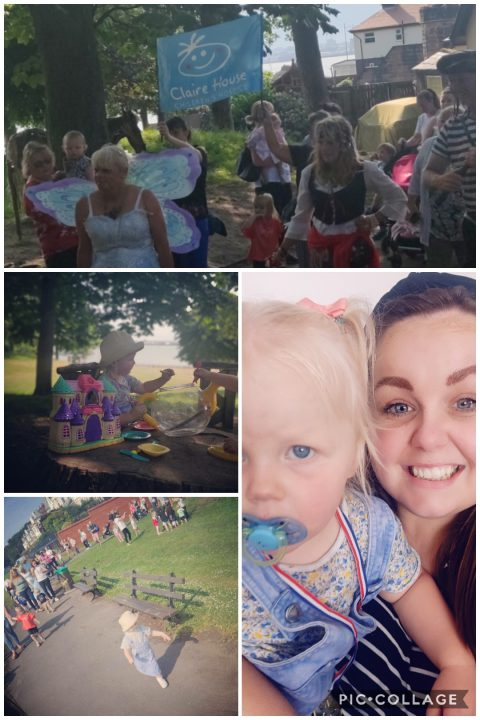 Lauran and Annabelle's toddle walk for charity