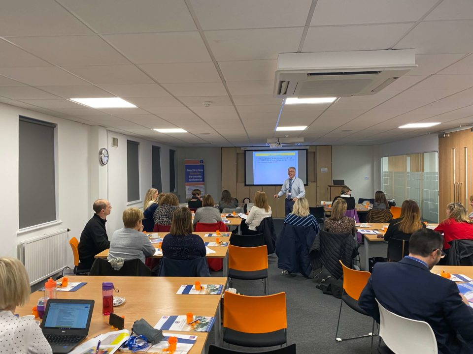 Gareth Coombes delivering a Maximising Pupil Progress session to education leaders as part of our 2020 Education Partnership Workshops