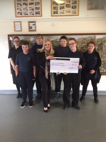 New Directions Wrexham deliver donation to Ysgol Plas Brondyffryn