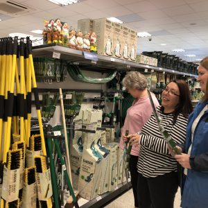 Team buying gardening equipment