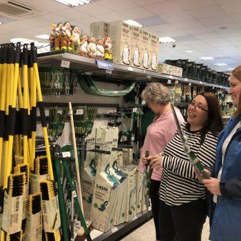 Team buying gardening equipment