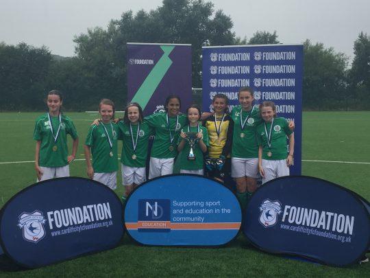 Crickhowell Community Primary School - winners of Girls Under 11 Cup