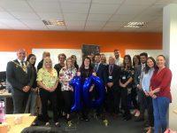 Wrexham Team with Mayor