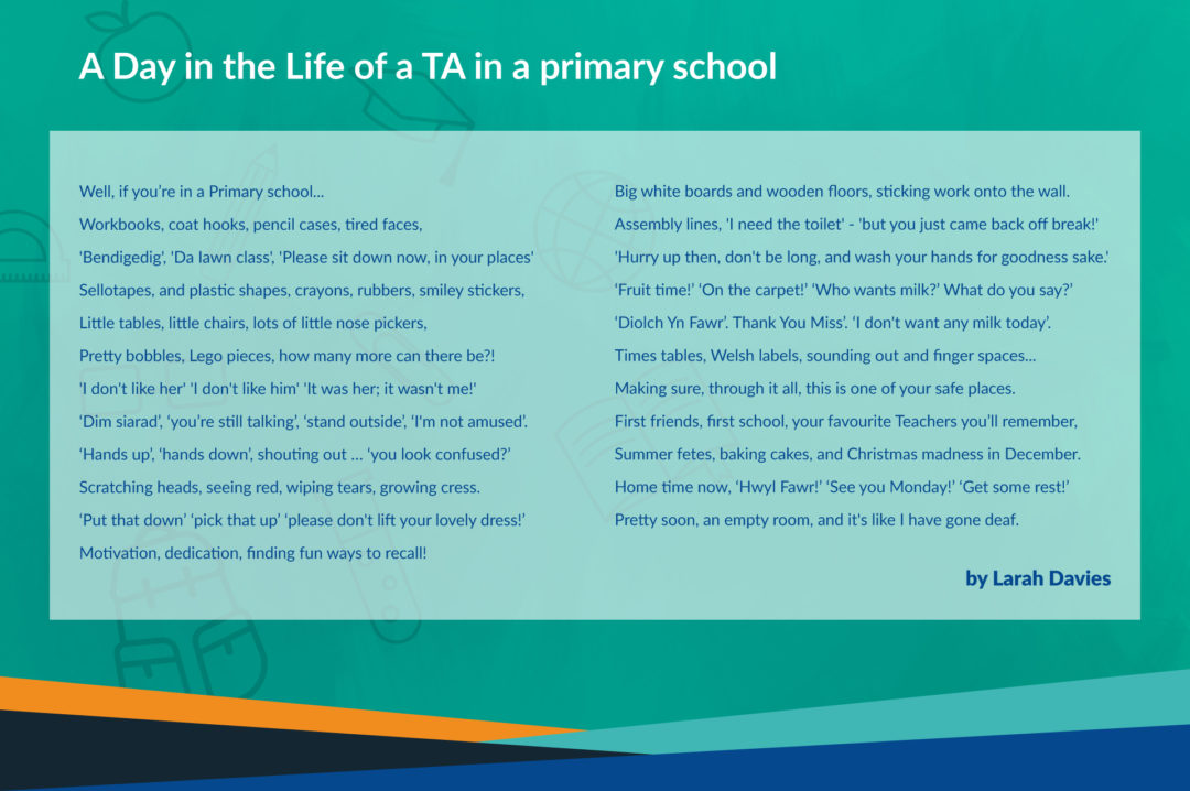 A Day in the Life of a Teaching Assistant poem, by Larah Davies