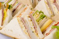 Image of a tray of sandwiches