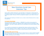 New Directions Social Care Interview Tips