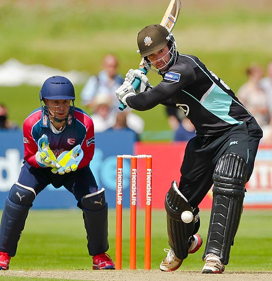 Tom Maynard with New Directions sponsored bat