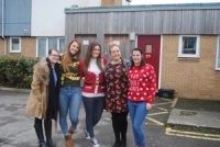 New Directions Social Care team decorate homeless shelter