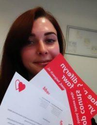 Rachel Jones, Ambassador for the Welsh Blood Service