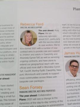 Rebecca Ford in Insider magazine